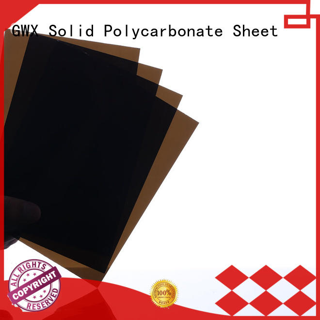 tinted 6mm solid clear polycarbonate sheet ODM for swimming pool GWX