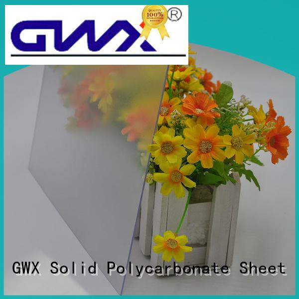 anti-scratch frosted lexan supplier for garden house GWX