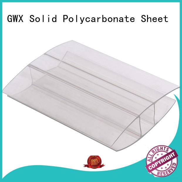 GWX U shape polycarbonate sheet end caps factory price