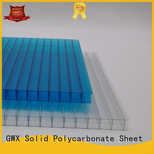GWX 100% virgin Bayer pc hollow sheet supplier for carport