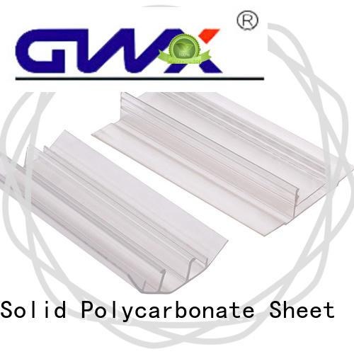 convenient polycarbonate sheet end caps H shape wholesale for connection