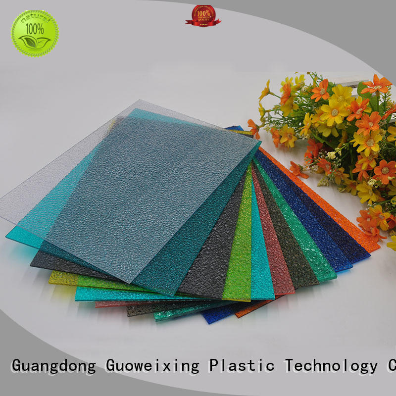 GWX Brand sheet resistance polycarbonate embossed sheet surface factory