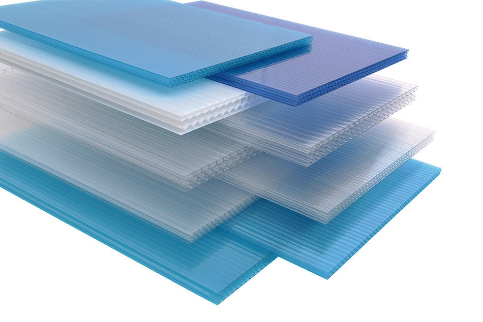GWX high quality hollow plastic sheet 100% virgin Bayer for Gazebo