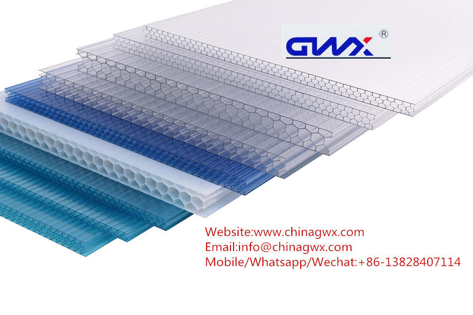 hollow Custom corridors greenhouse polycarbonate hollow sheet GWX gwx