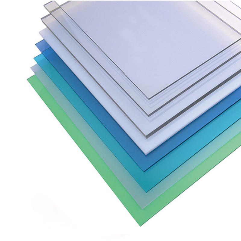 solid polycarbonate sheets anti-scratch with roller packing thickness1.5mm-20mm