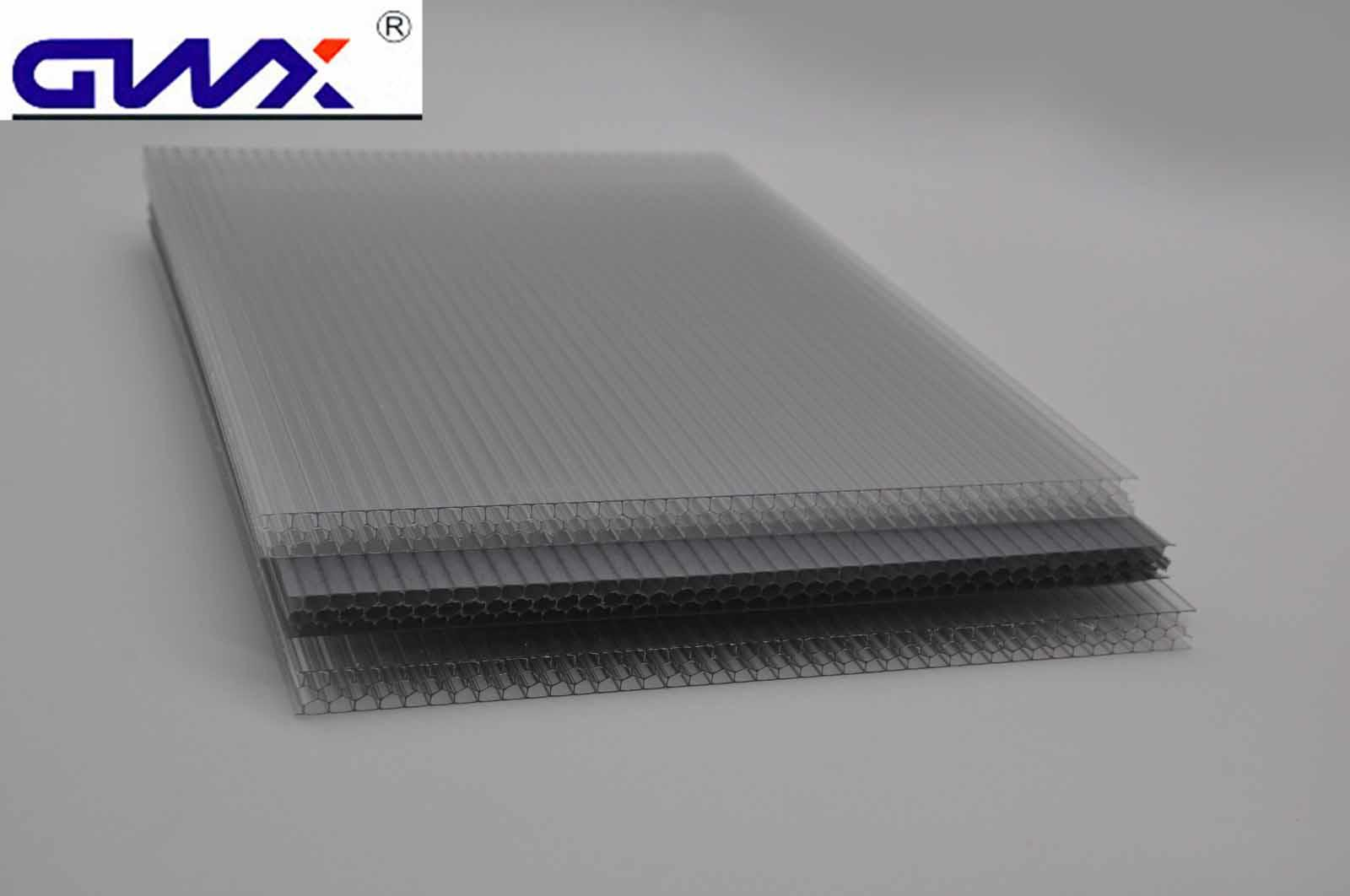 GWX impact-resistant pc multi polycarbonate multiwall sheet cellular for swimming pool cover