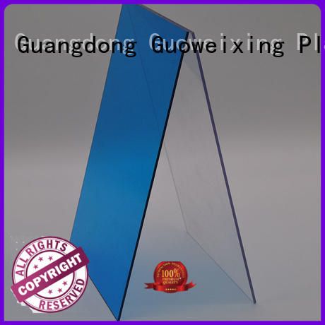 thickness warranty solid polycarbonate roofing GWX Brand