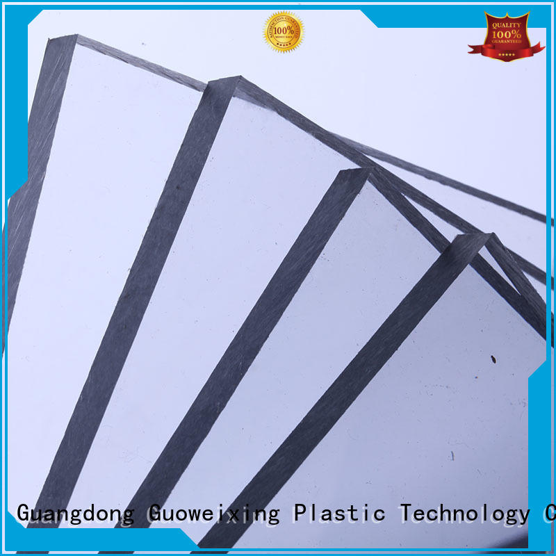 thickness polycarbonate solid sheet sun GWX company