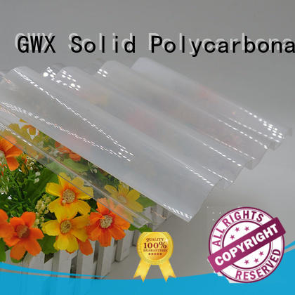 UV coating polycarbonate corrugated sheet round supplier for corrugated roof
