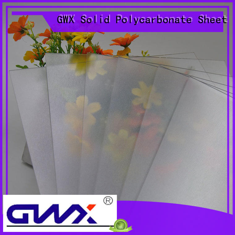 GWX abrasive surface frosted acrylic manufacturer for glazing windows