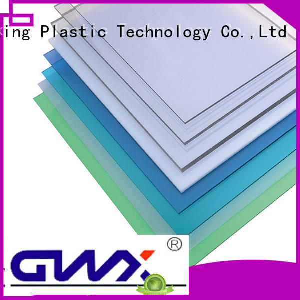 GWX Brand advertising packing custom solid polycarbonate roofing