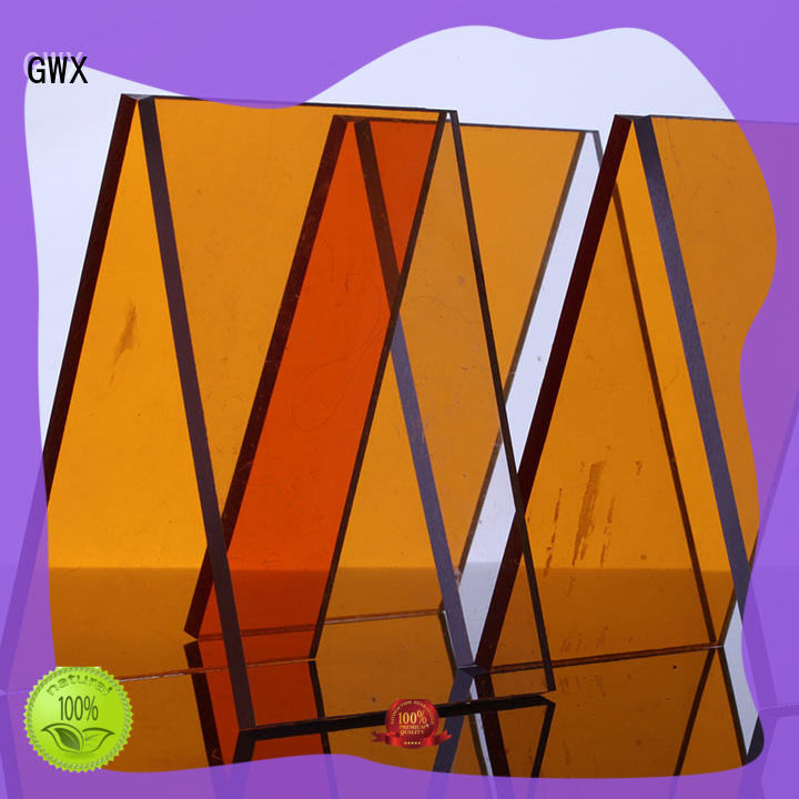 GWX anti-scratch solid polycarbonate sheet OEM for skylight awning