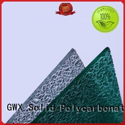 GWX multi-color polycarbonate embossed sheet supplier for door