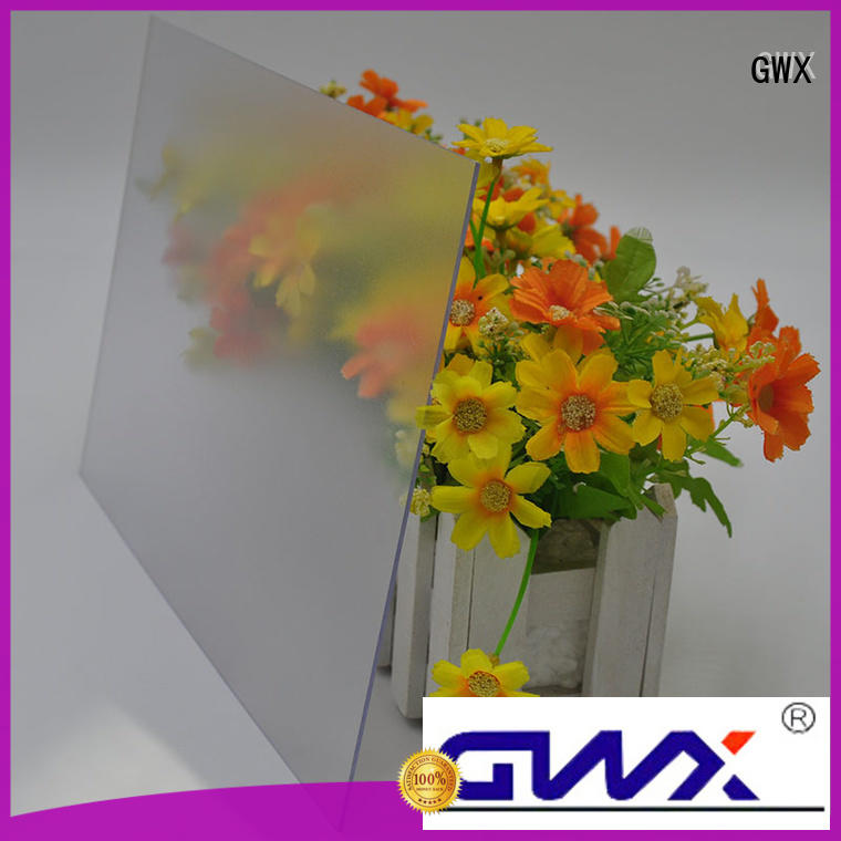 uv protective frosted lexan abrasive surface factory direct for office partition