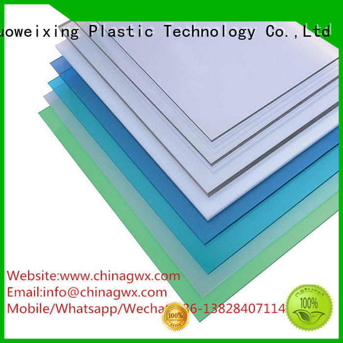 packing antiscratch polycarbonate solid sheet GWX Brand