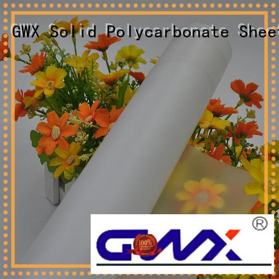 durable makrofol polycarbonate film 100% virgin Bayer manufacturer for surface