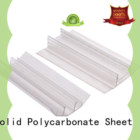 GWX bayer raw material polycarbonate sheet end caps factory price for connection