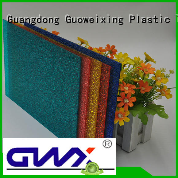 Wholesale uv polycarbonate embossed sheet GWX Brand