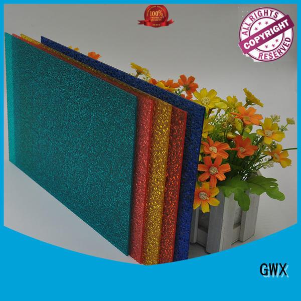 GWX Brand antiuv sheet panels makrolon polycarbonate sheet price