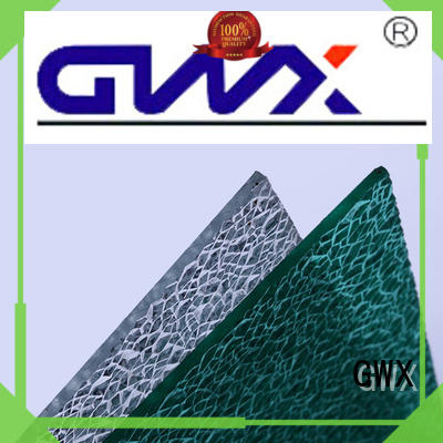GWX anti-uv surface polycarbonate embossed sheet wholesale for skylight