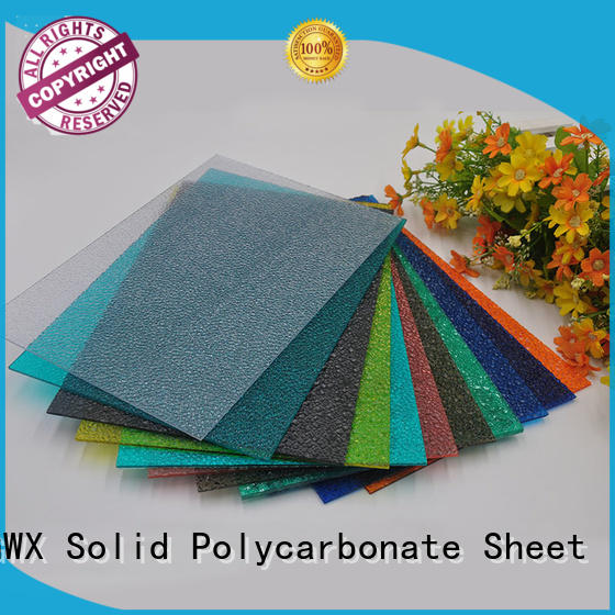 GWX hot selling polycarbonate embossed sheet factory direct for overpass