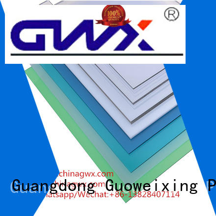 GWX Brand awning solid polycarbonate roofing covering supplier