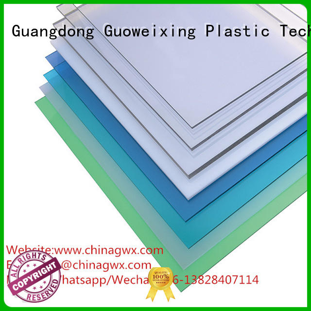 Quality GWX Brand makrolon panels antiscratch