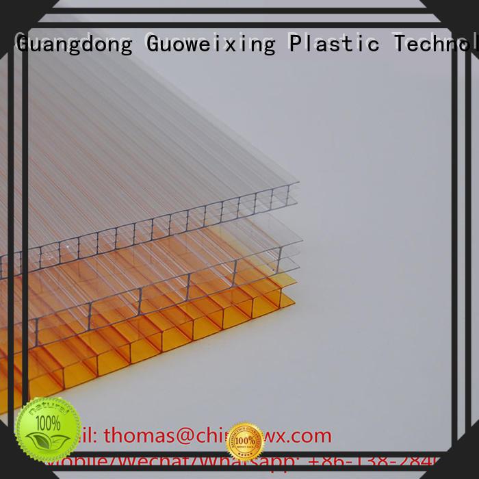 Quality GWX Brand greenhouse skylight polycarbonate hollow sheet