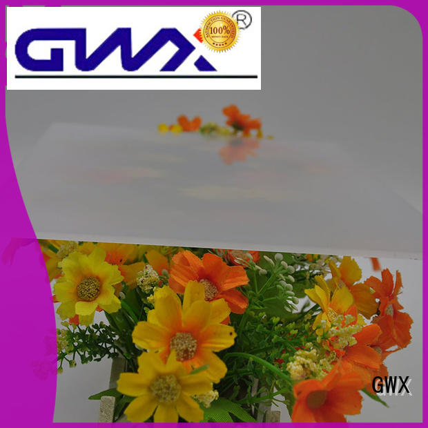 GWX 100% new virgin material polycarbonate diffuser sheet factory direct for garden house