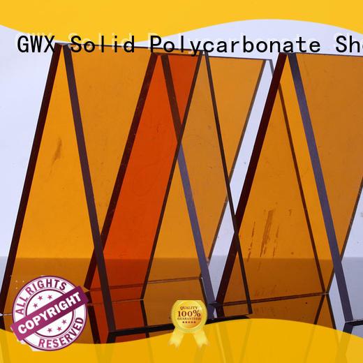 GWX brown makrolon uv sheet manufacturer for skylight awning