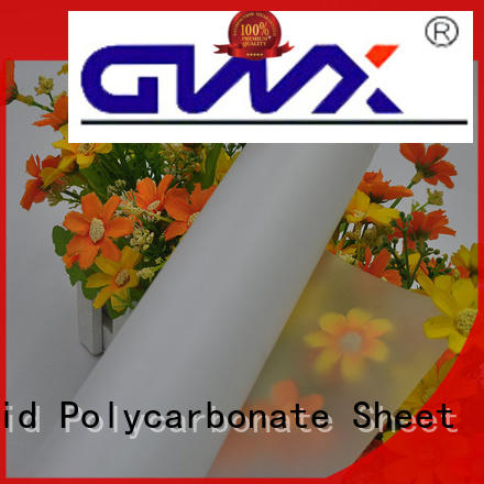 GWX 100% virgin Bayer polycarbonate film roll manufacturer for surface
