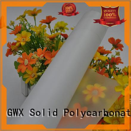 GWX translucent pc film manufacturer for surface