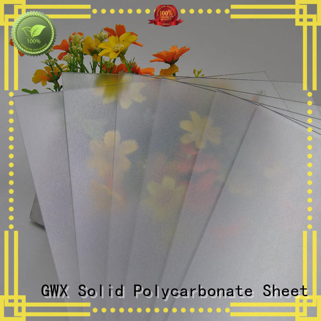 GWX clear frosted plastic sheets wholesale for garden house