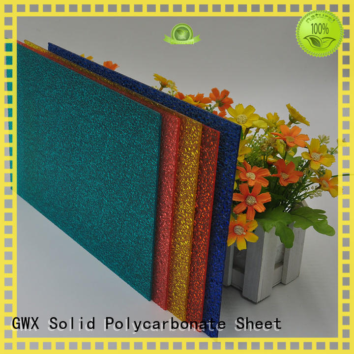 GWX professional pc embossed sheet supplier for wall
