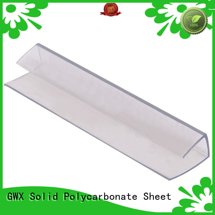 GWX waterproof polycarbonate h profile wholesale for connection