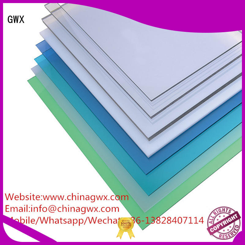 durable packing polycarbonate solid sheet thickness polycarbonate GWX company
