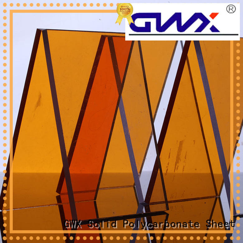 GWX brown lexan pc sheet supplier for roofing covering