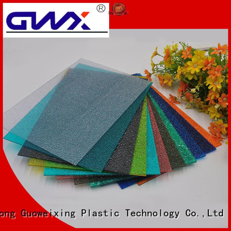 antiuv impact embossed makrolon polycarbonate sheet price GWX manufacture