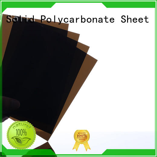 professional solid polycarbonate sheet brown OEM for skylight awning