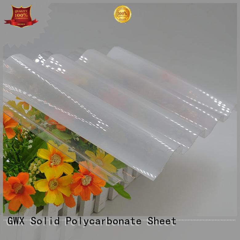 GWX professional suntuf corrugated polycarbonate manufacturer for greenhouse