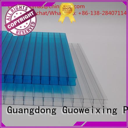 Wholesale cellular balcony polycarbonate hollow sheet GWX Brand