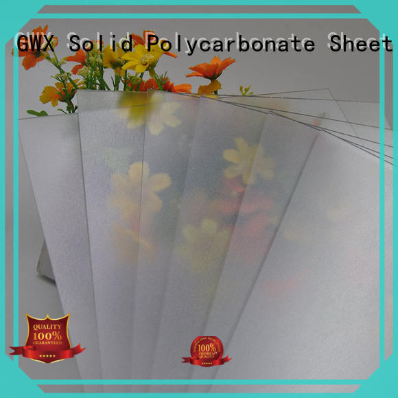 GWX uv protective frosted acrylic anti-scratch for glazing windows