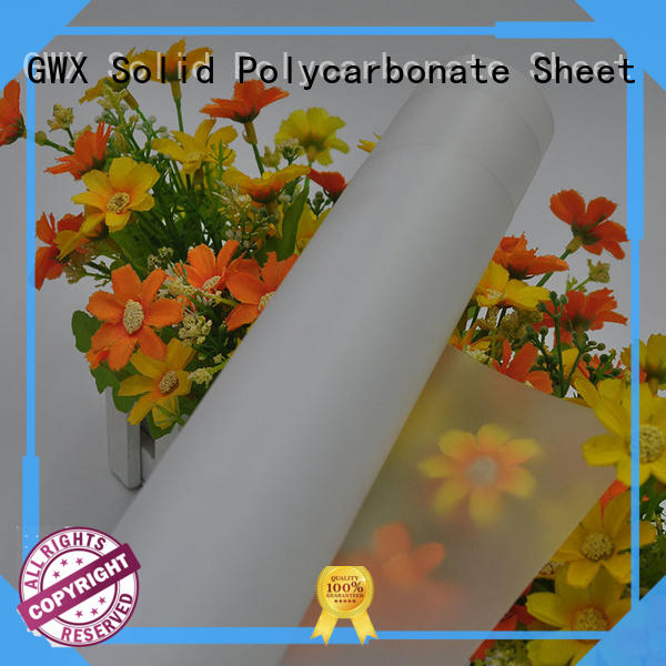 GWX translucent polycarbonate film roll wholesale for protection