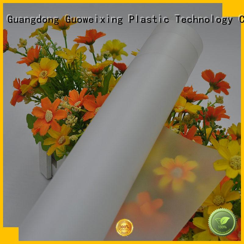 GWX Brand surface polycarbonate film abrasion factory