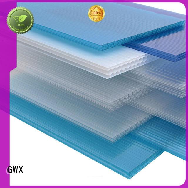 GWX impact-resistant pc plastic sheet wholesale for Gazebo
