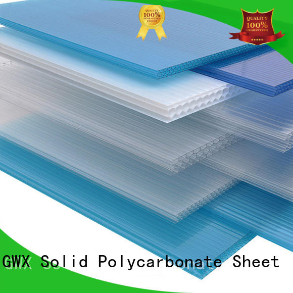 GWX impact-resistant hollow sheet polycarbonate manufacturer for balcony