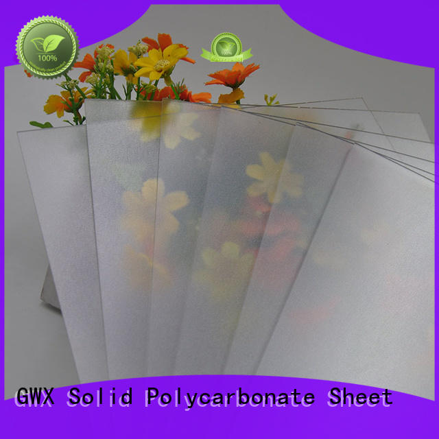GWX anti-scratch frosted acrylic sheet factory direct for garden house