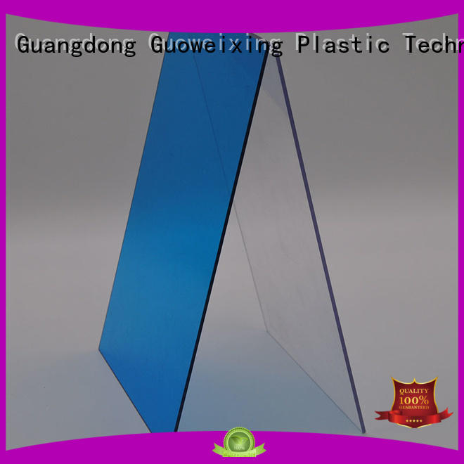 GWX Brand virgin twin polycarbonate solid sheet manufacture