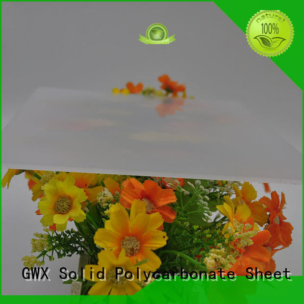 GWX soundproof polycarbonate diffuser sheet wholesale for greenhouse