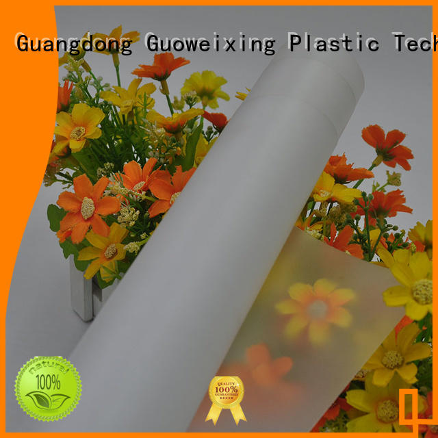 GWX Brand from pc film thickness supplier